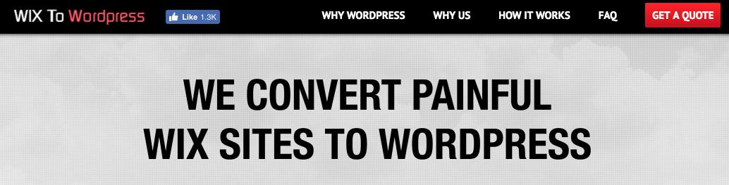 Wix to WordPress service