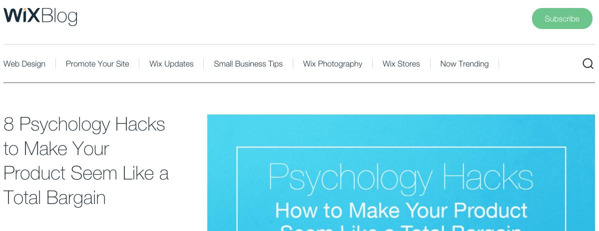 Wix built their blog on WordPress